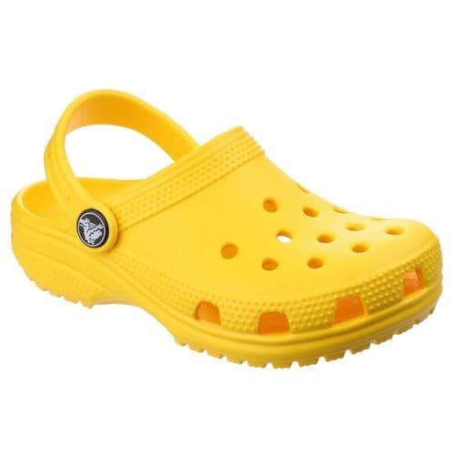 Crocs Kids Classic Clog Childrens Beach Lemon